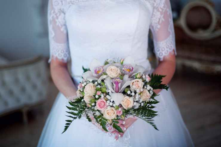 beautiful blur bouquet bridal