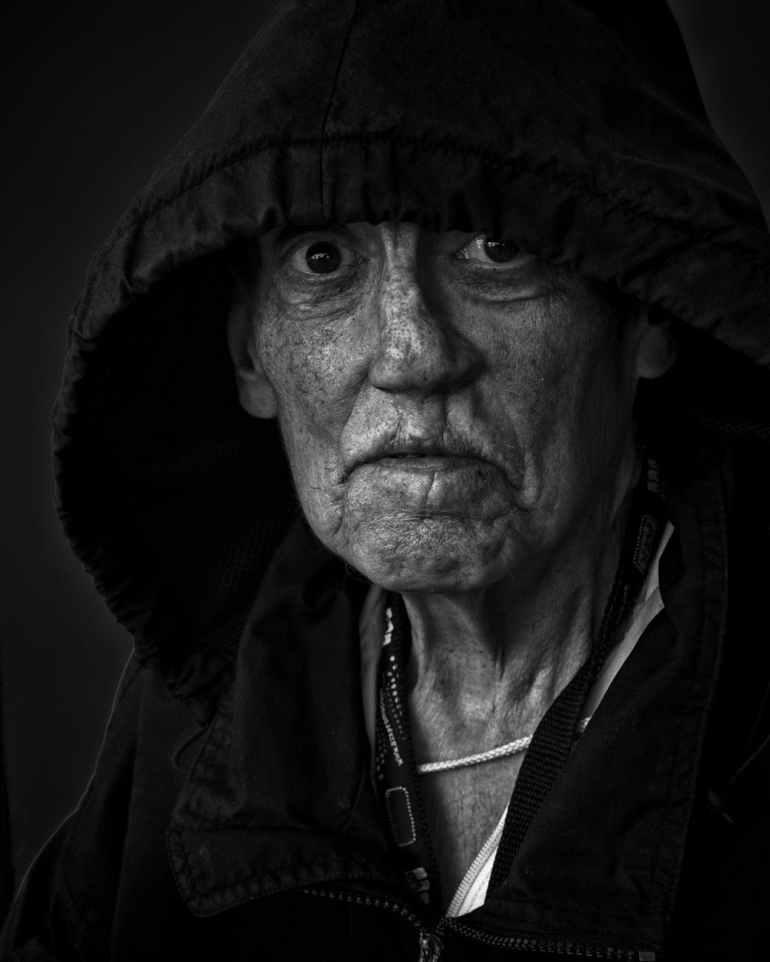 adult black and white dark elder